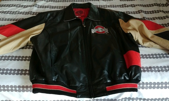 04c17d3e4 Never Worn Leather Buckeye Jacket